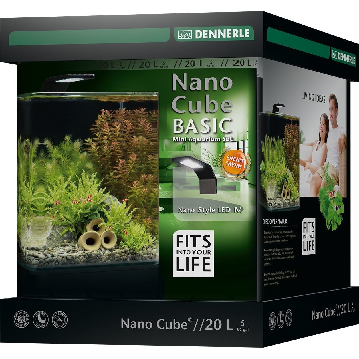 Dennerle NanoCube Basic Style LED Aquarium, Bild 4