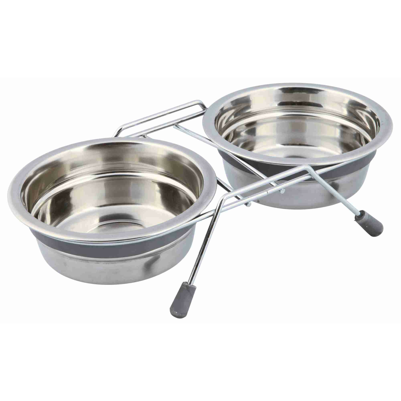 Trixie Napf-Set Eat on Feet mit Klapperschutz, 2 × 0,45 l/ø 13 cm
