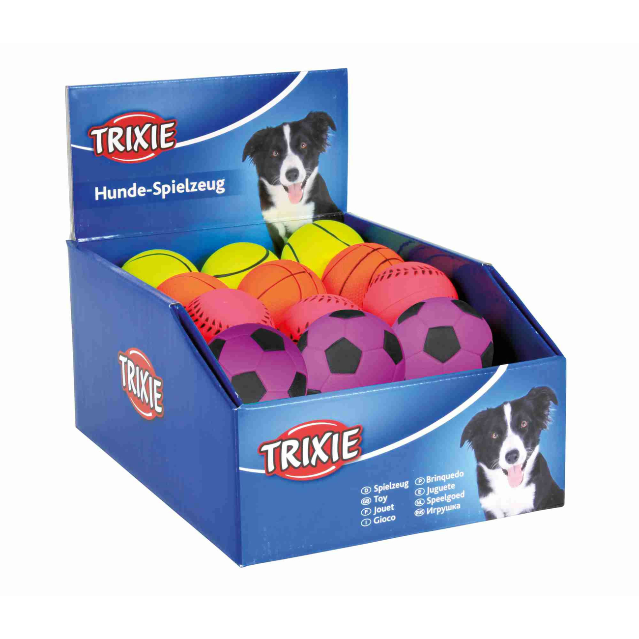 TRIXIE Hundeball Spielball aus Moosgummi 6 cm 3443, Bild 4