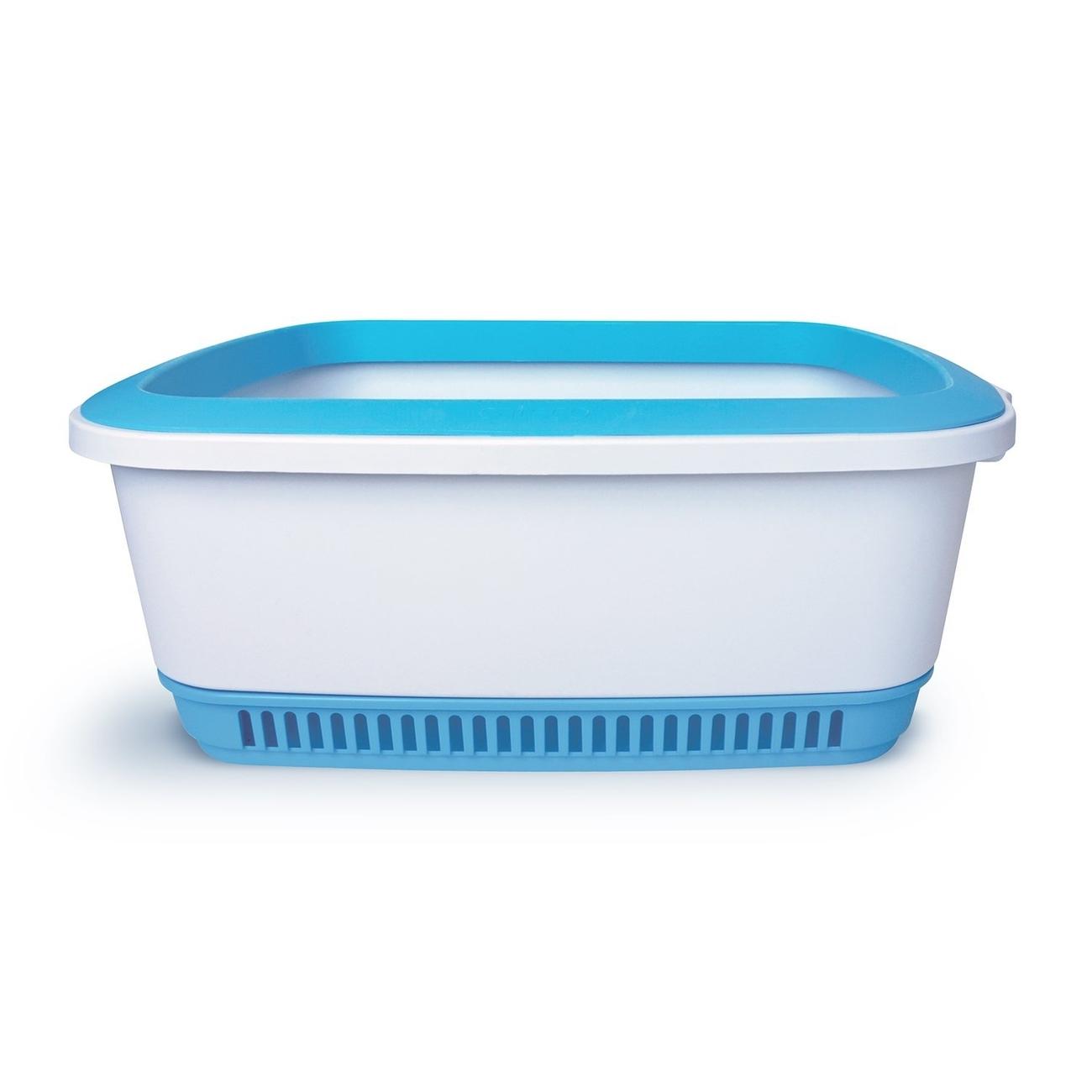 Canada Litter NOBA Premium Katzentoilette, 55,2 x 42,5 x 20,1 cm, Blau
