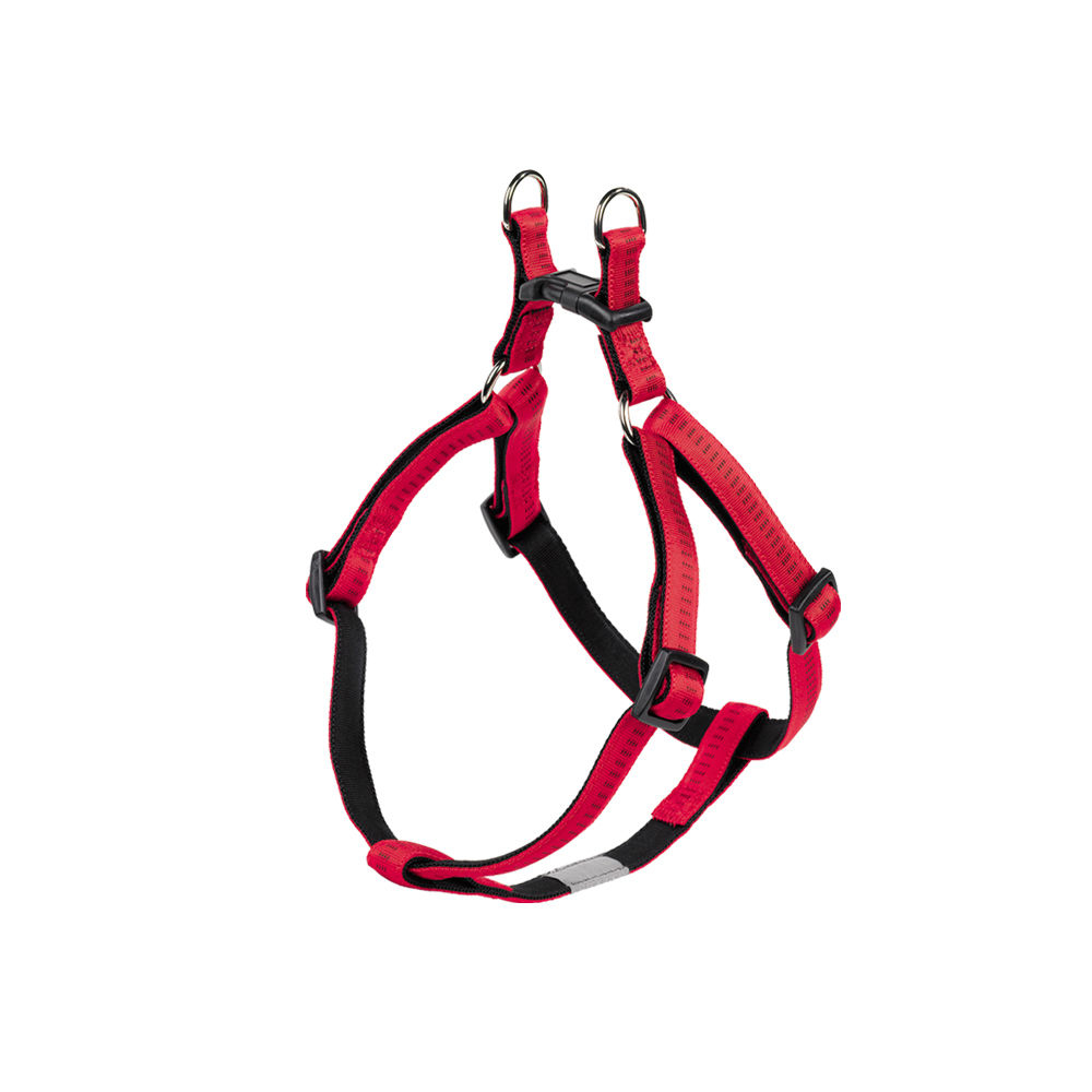 Nobby Hundegeschirr Soft Grip Nylon, Brust: 30-40 cm; B: 10 mm, rot