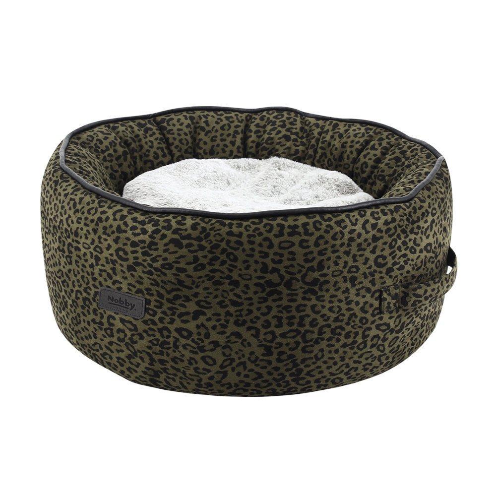 Nobby Hundekorb Leo, Ø 45x19 cm, Leopardenmuster braun
