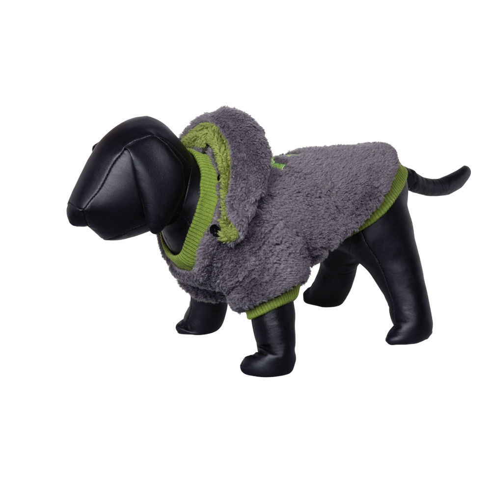Nobby Hundemantel TEDDY, 36 cm, grau-grün