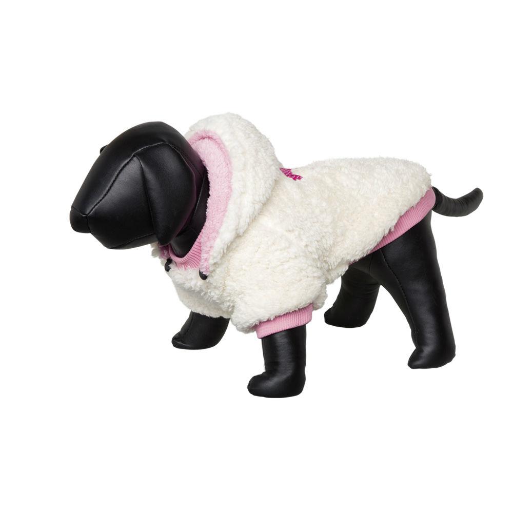 Nobby Hundemantel TEDDY, 40 cm, creme-pink