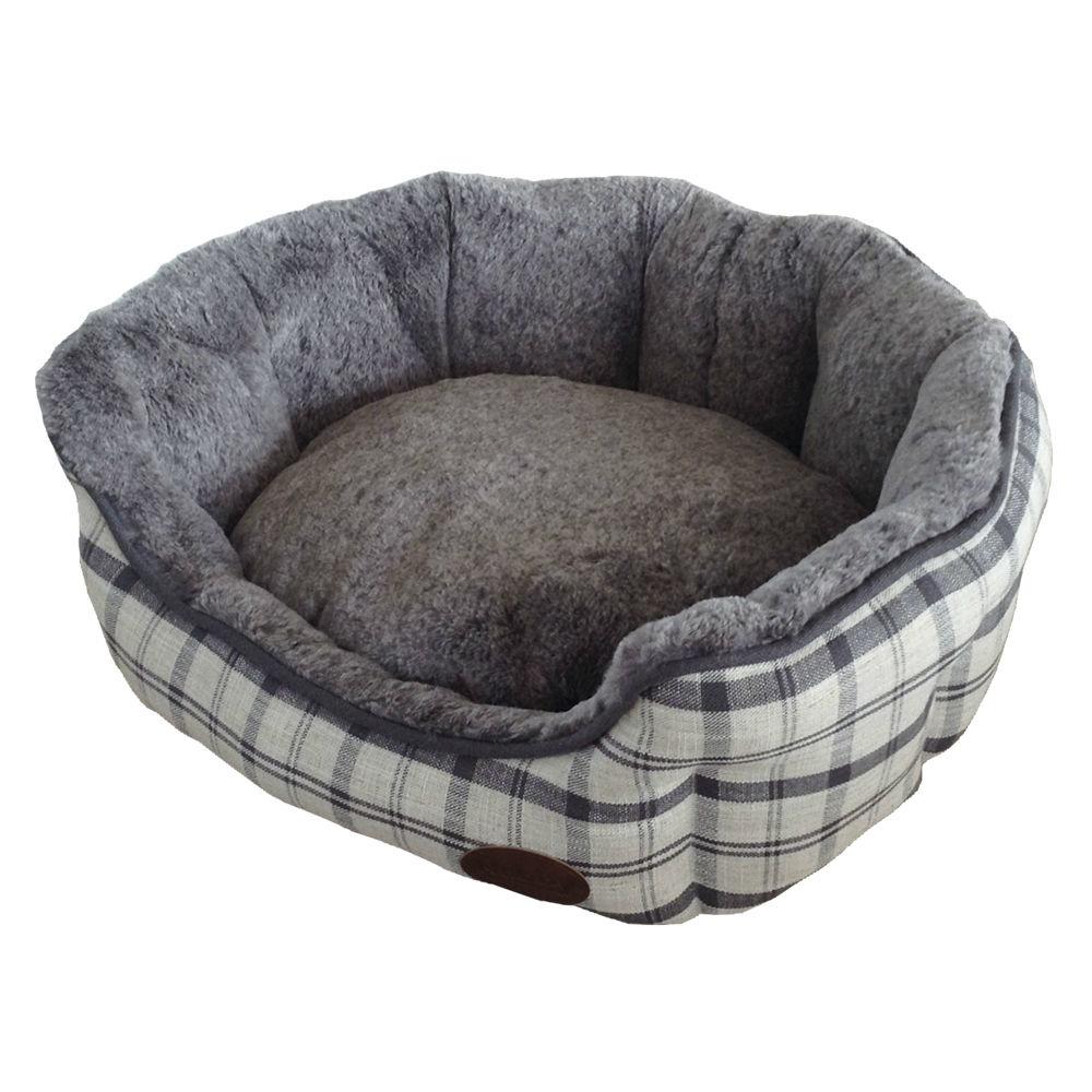 Nobby Komfort Haustier Bett oval CHECKER