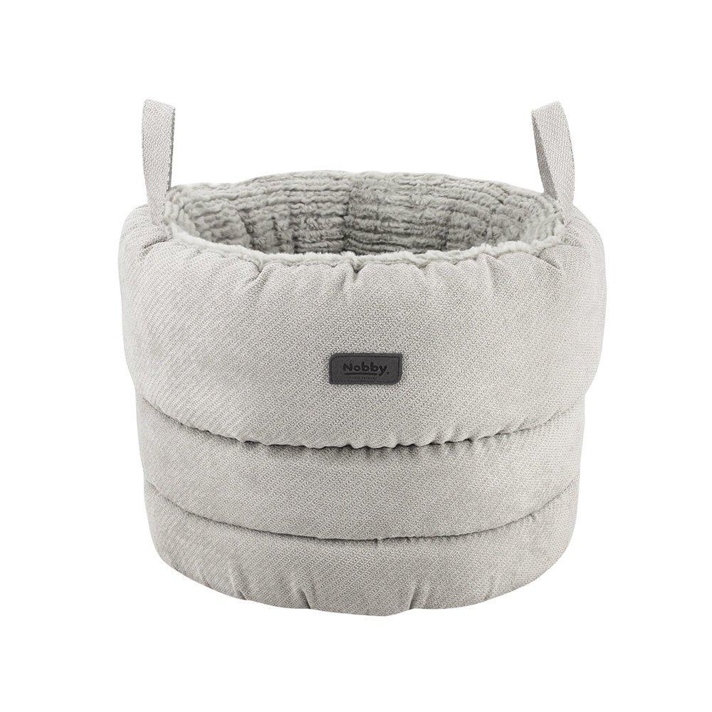 Nobby Komfortkorb rund Lago, Ø 45x31 cm, hellgrau