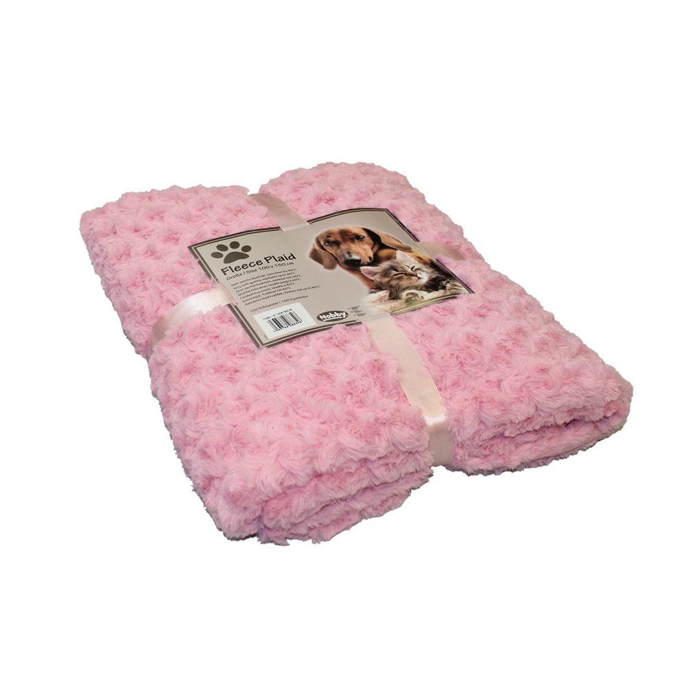 Nobby Kuscheldecke Haustierdecke Fleece Super Plaid, 60x85 cm, pink