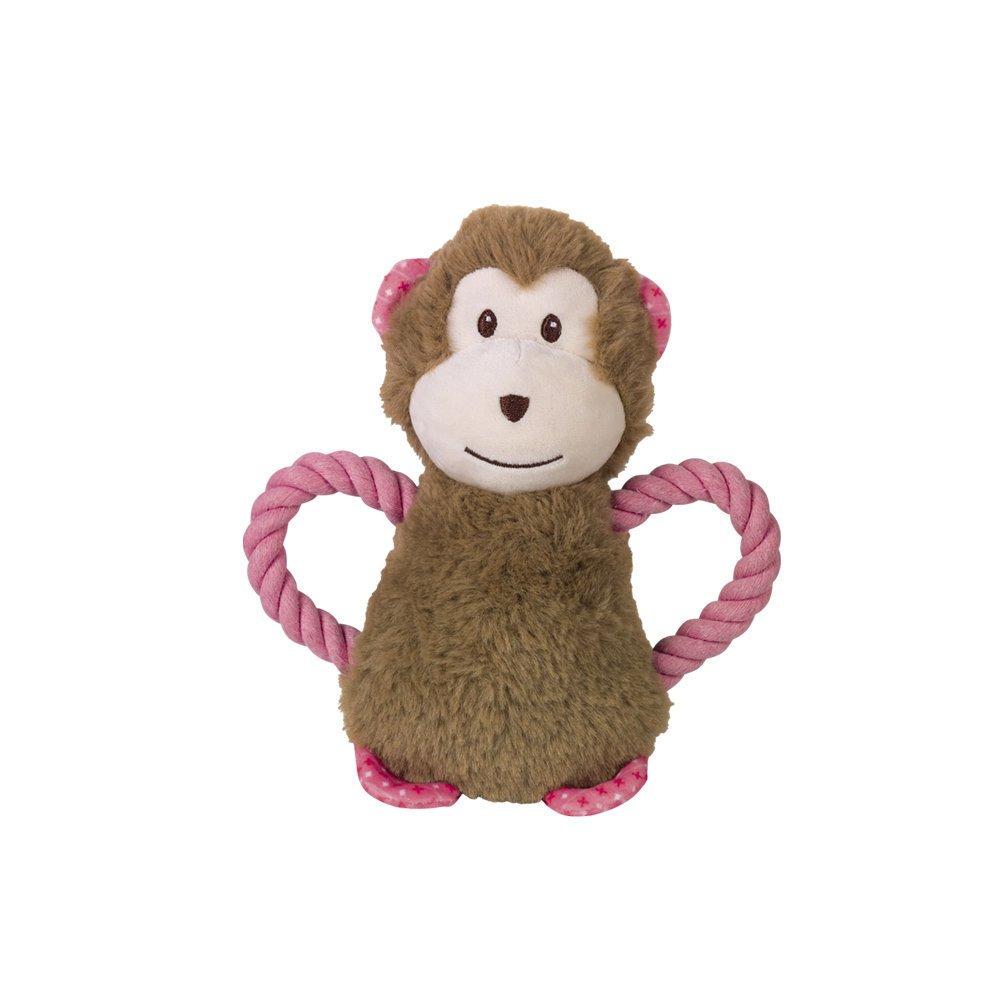 Nobby Plüsch Affe mit Seil, 21 cm - braun