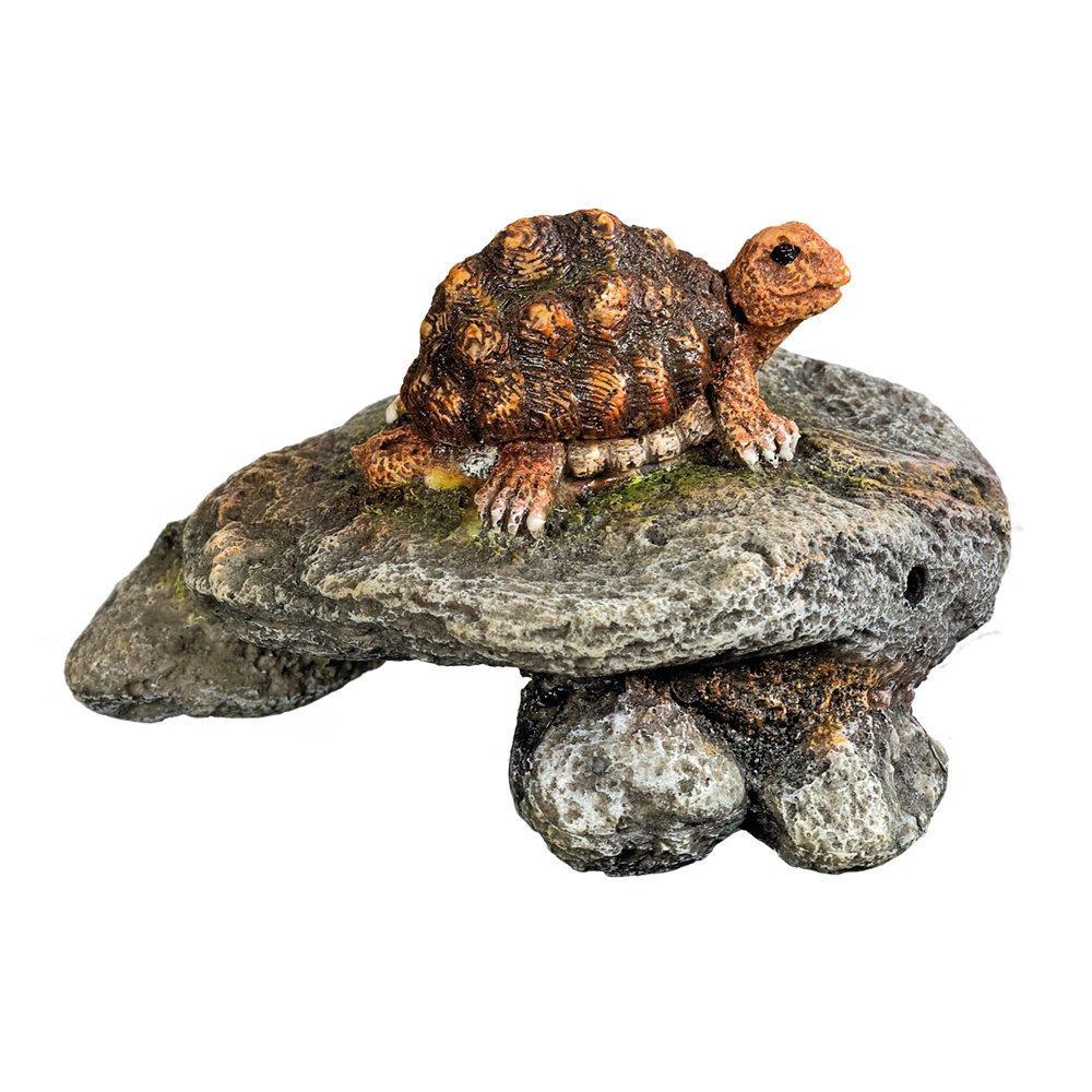 Nobby Stein mit Schildkröte, 9,5 x 9,5 x 6 cm