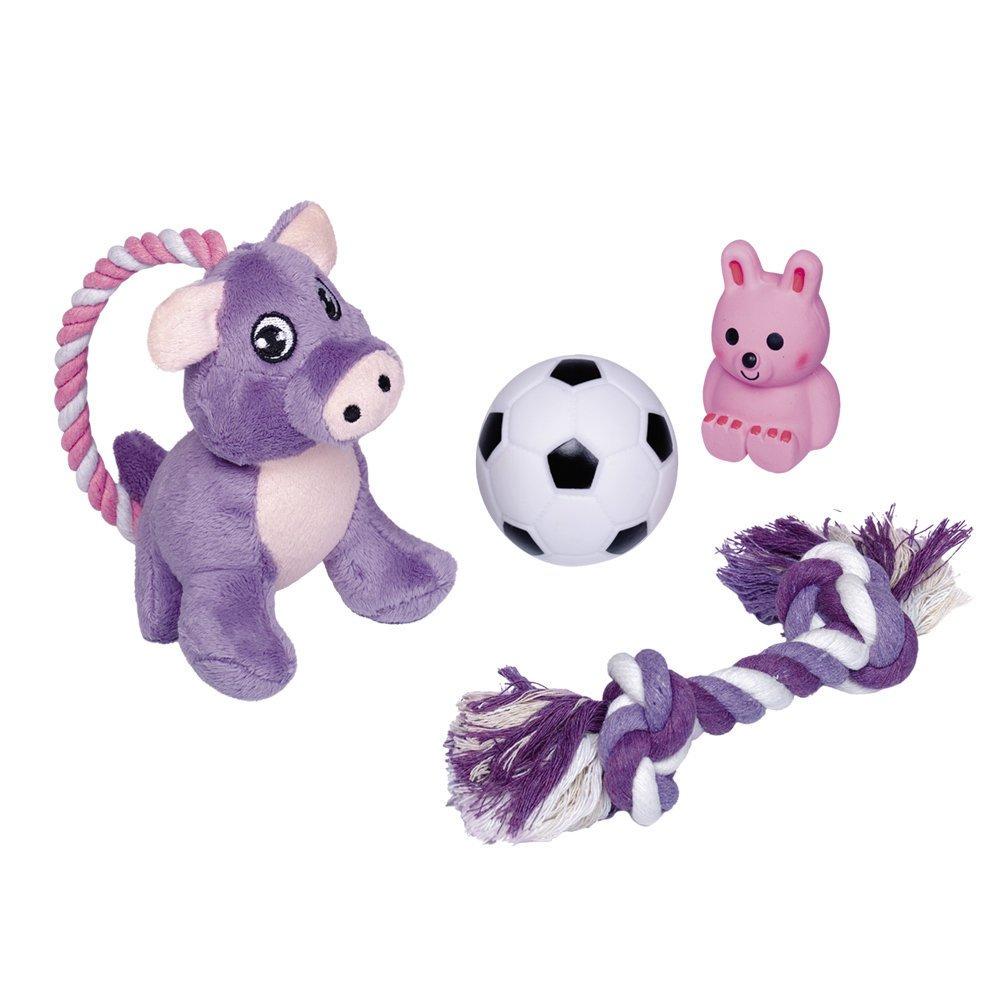 Nobby Vierteiliges Welpen Spielzeug Set, Set - vierteilig