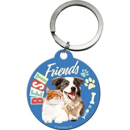 Nostalgic-Art Best Friends Cat & Dog, Schlüsselanhänger