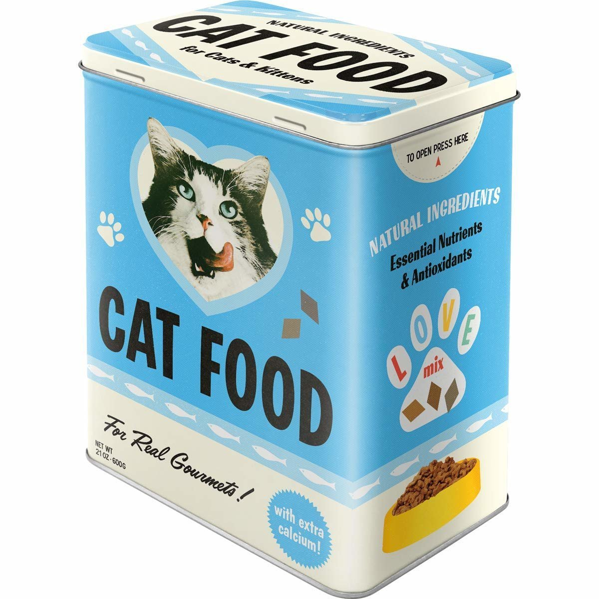 Nostalgic-Art Cat Food - Love Mix, Vorratsdose, Bild 2