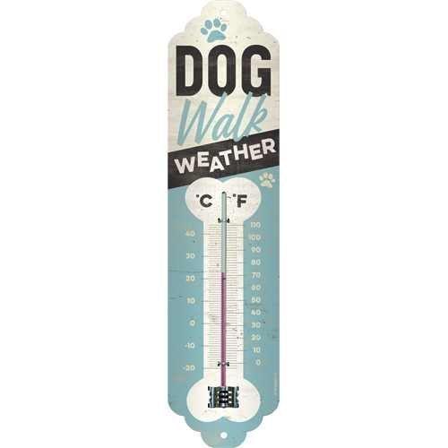 Nostalgic-Art Dog Walk Weather, Thermometer, Hundemotiv