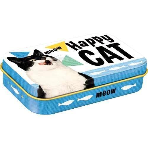 Nostalgic-Art Happy Cat, Leckerli-Dose, Katzenmotiv