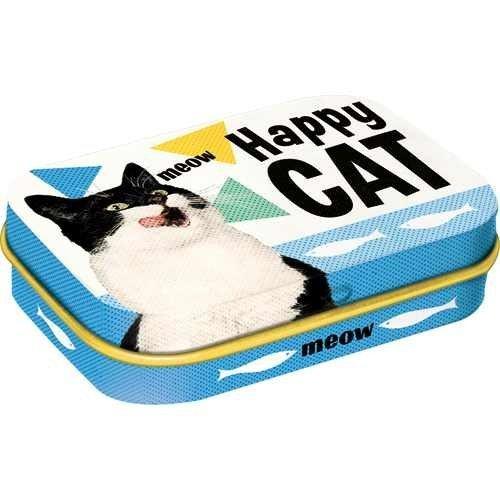 Nostalgic-Art Happy Cat, Pillendose, Katzenmotiv
