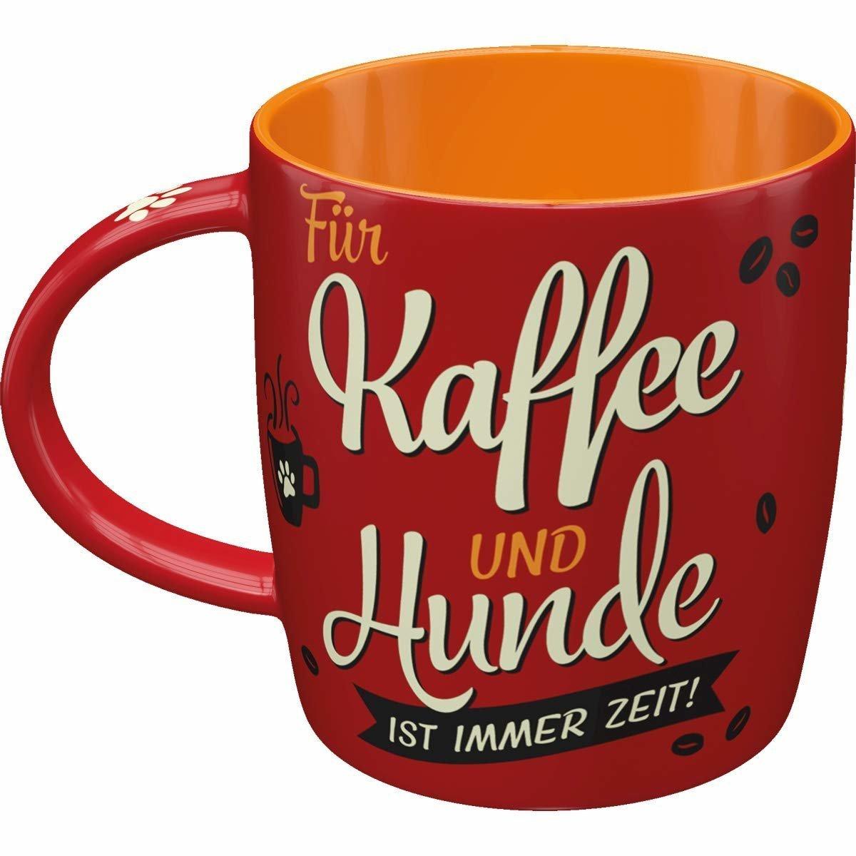 Nostalgic-Art Kaffe-Becher Kaffee und Hunde, 8,5 x 8,5 x 9 cm