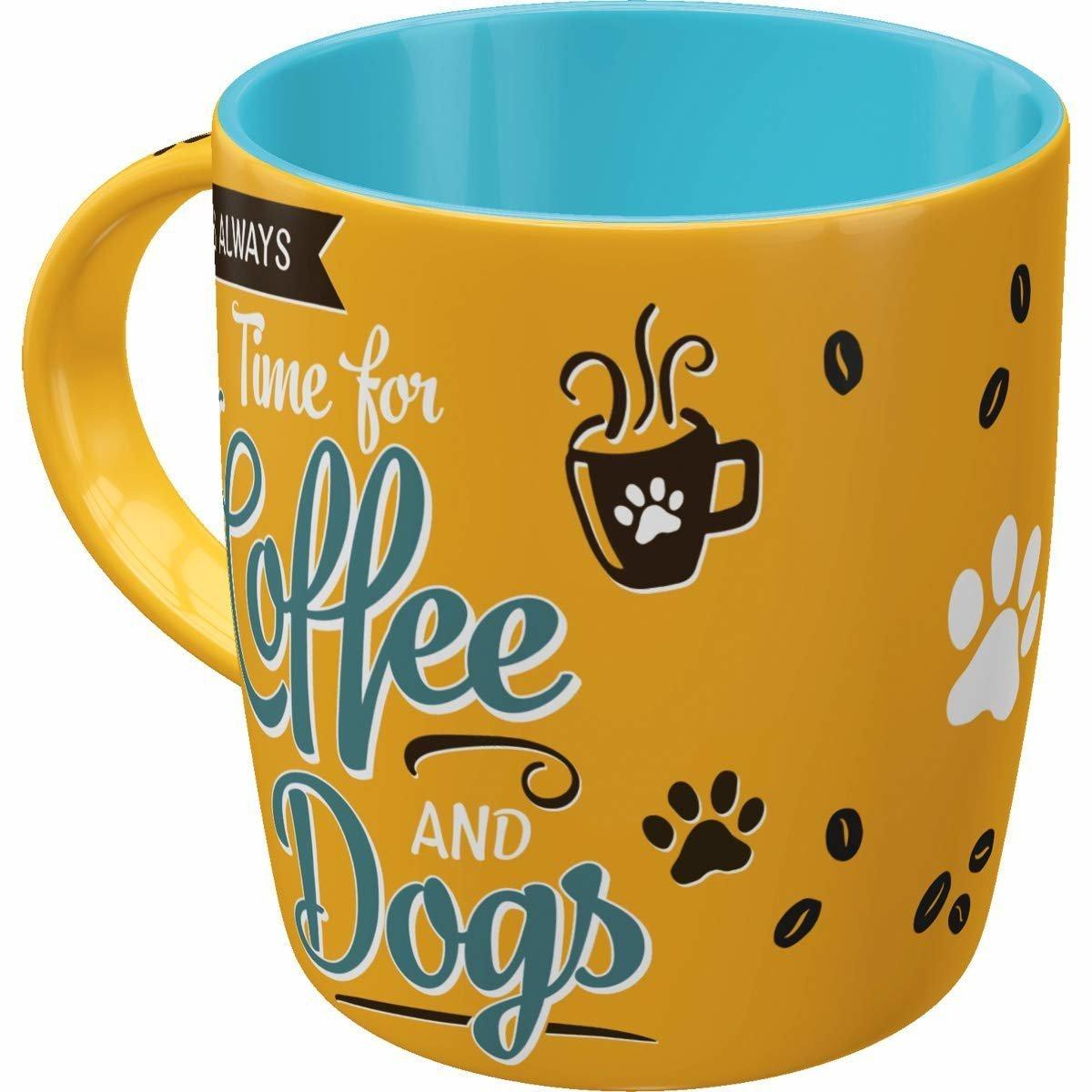 Nostalgic-Art Kaffebecher Coffee and Dogs, PfotenSchild - Coffee and Dogs, Tasse