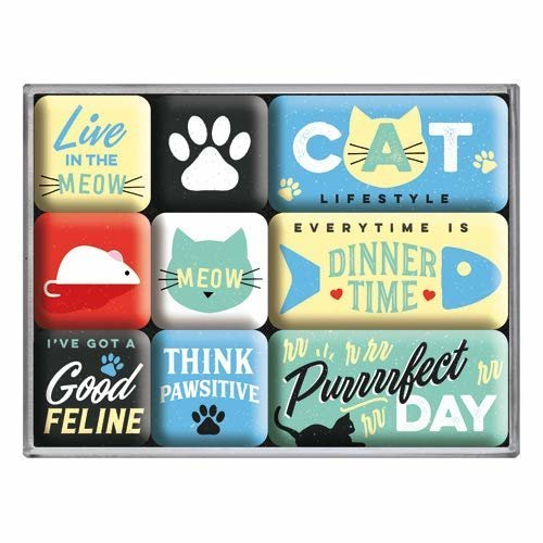 Nostalgic-Art Magnet Set Cat Lifestyle
