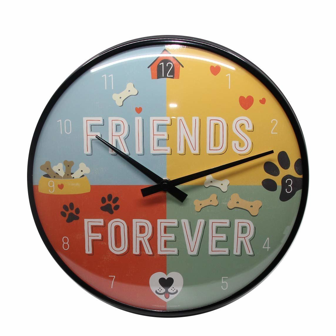 Nostalgic-Art Wanduhr Friends Forever, 31 cm