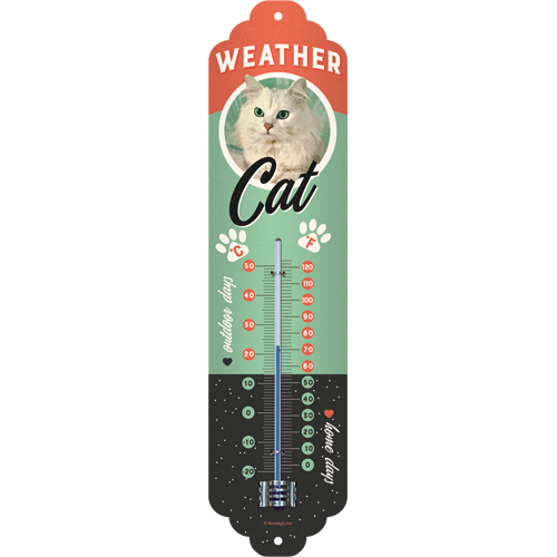 Nostalgic-Art Weather Cat, Thermometer, Katzenmotiv