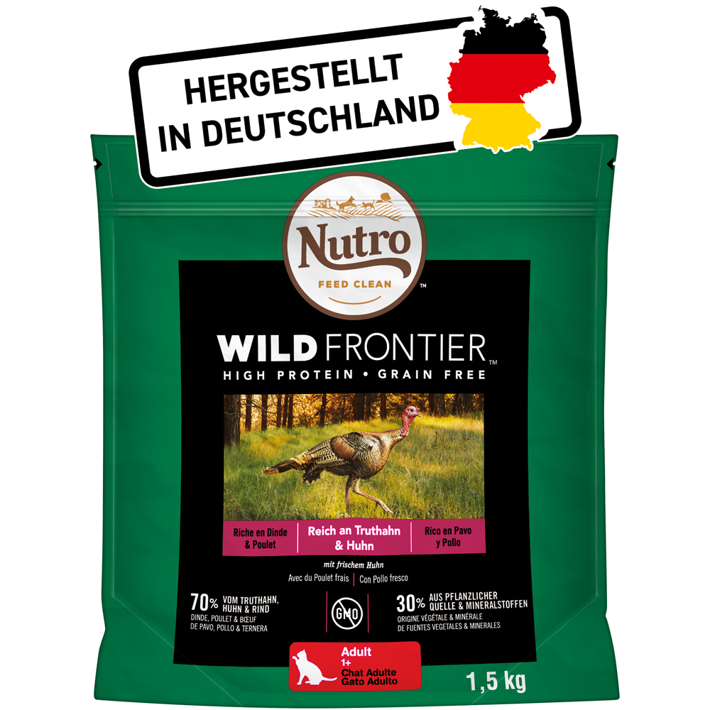 Nutro Trockenfutter Wild Frontier Truthahn und Huhn für Katzen