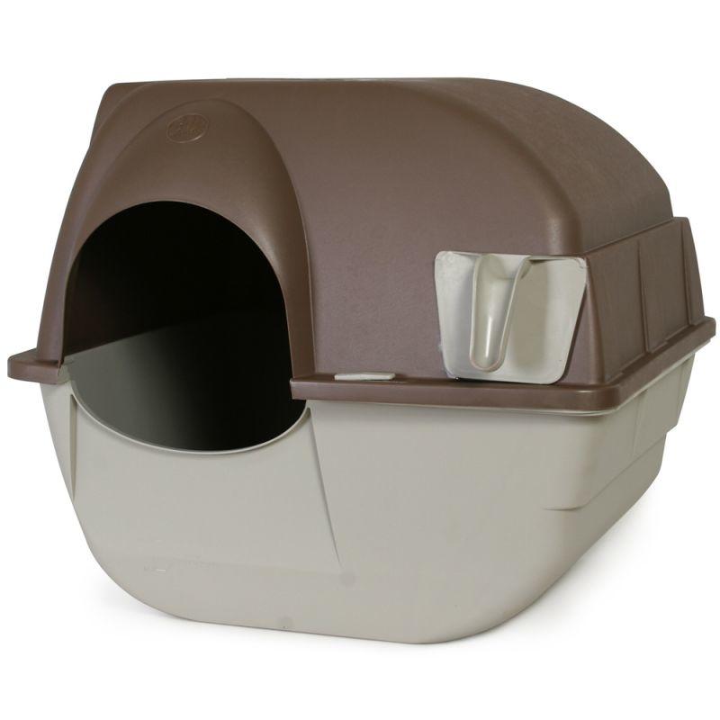 Omega Paw Roll'n Clean selbstreinigende Katzentoilette, braun/grau