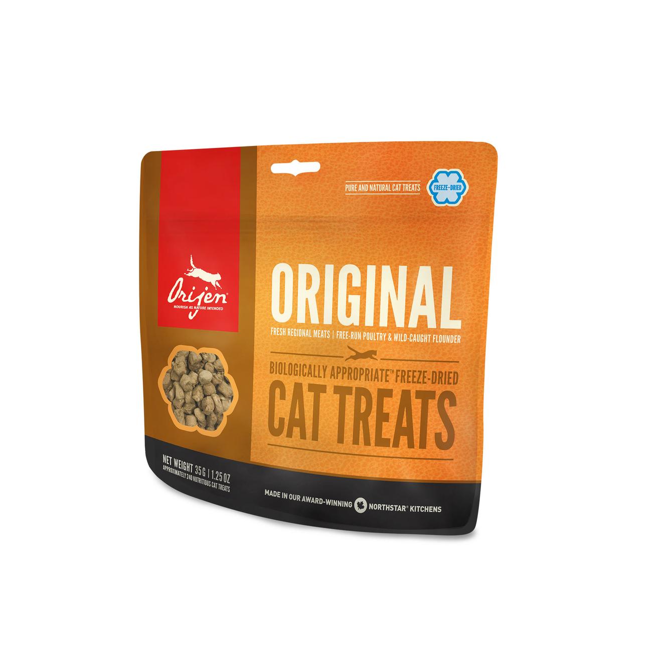Orijen gefriergetrocknete Katzen Leckerli, Original Cat 35g
