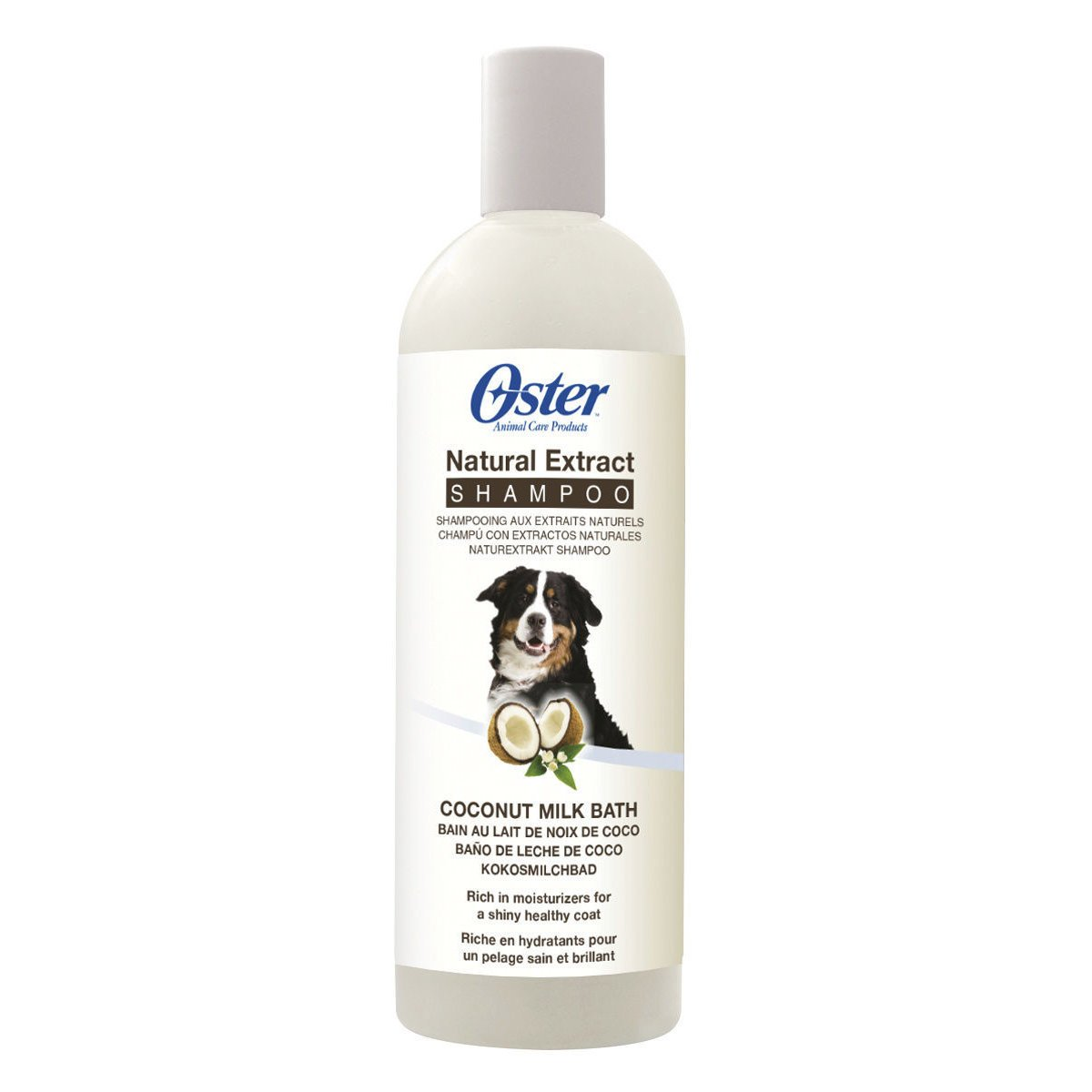 Oster Natural Extract Premium Hundeshampoo, Kokosmilchbad Shampoo 473 ml