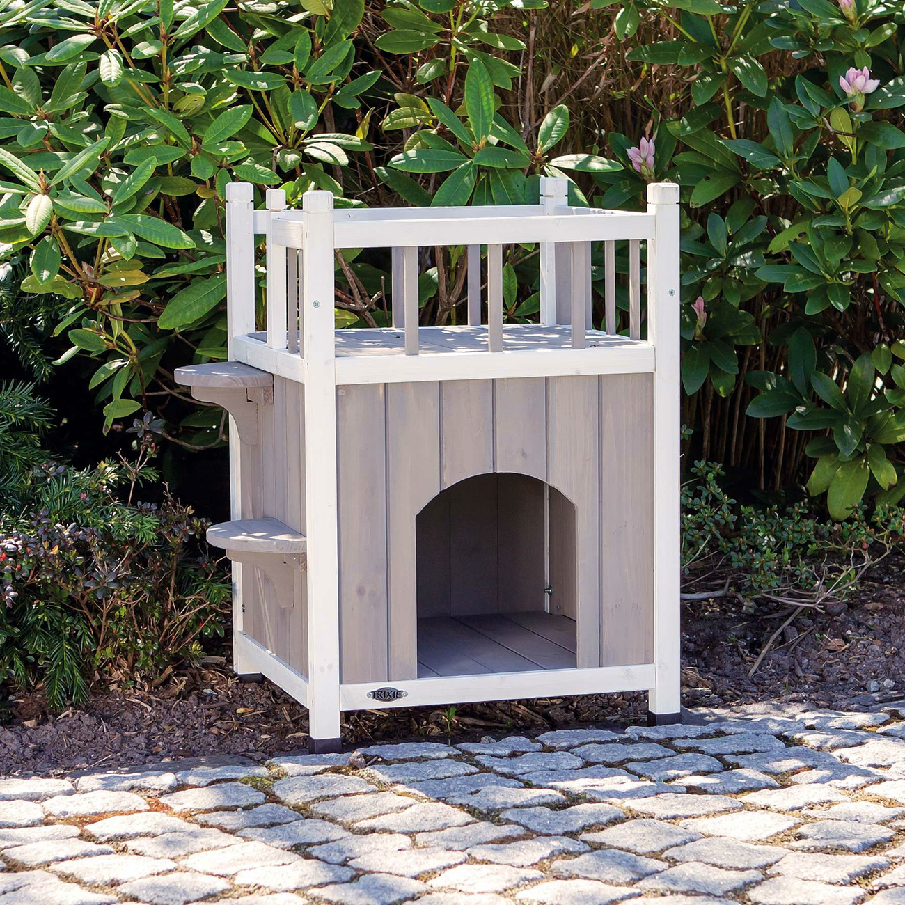 TRIXIE Outdoor Katzenhaus Cat's Home mit Balkon 44093, Bild 2