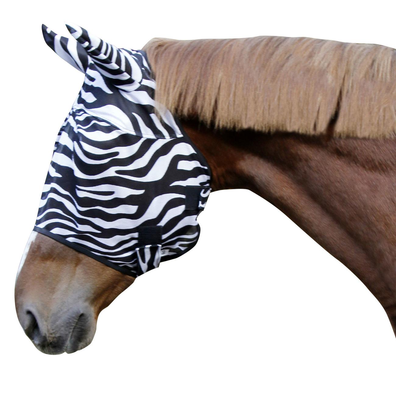 Pferde Fliegenschutzmaske Zebra incl. Ohrenschutz