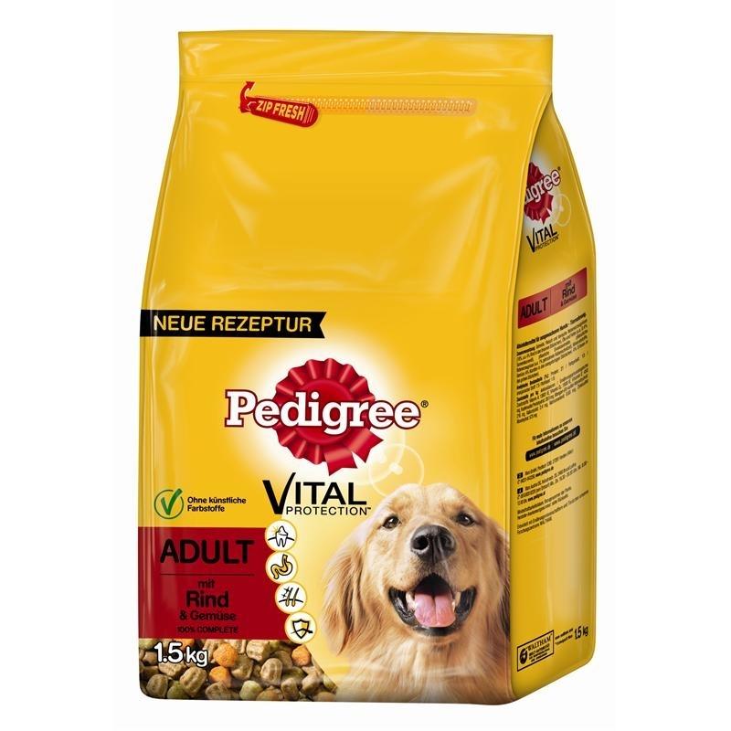 Pedigree Hundefutter Trocken Adult mit Rind & Gemüse