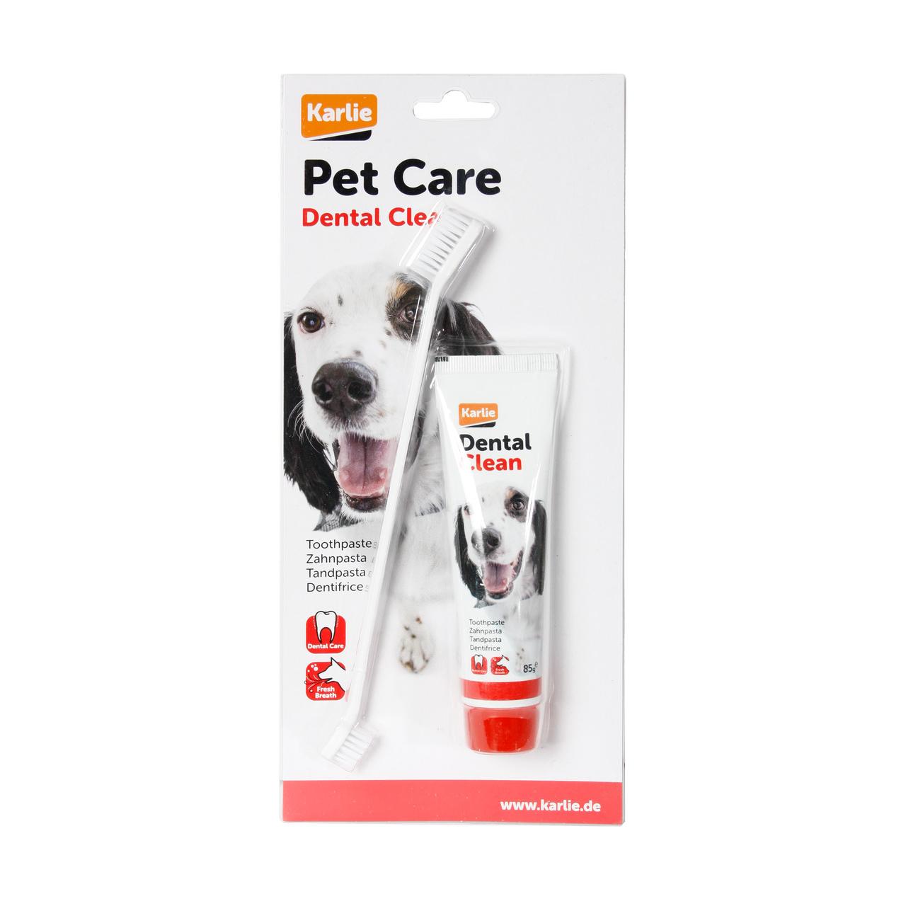 Karlie Petcare Zahnpasta mit Bürste für Hunde, Zahnpasta mit Bürste 85 g