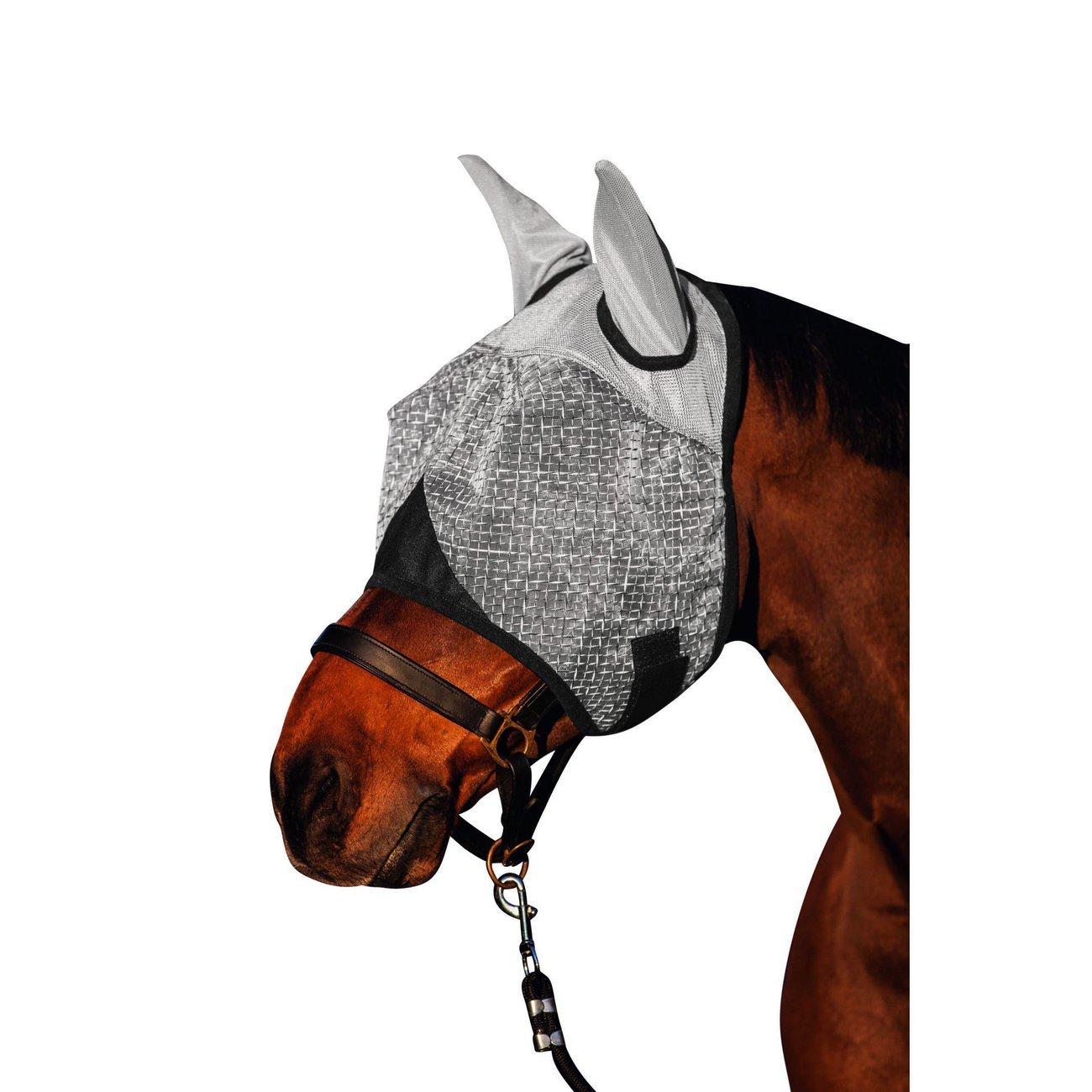 Covalliero Pferde Fliegenmaske mit Ohrenschutz