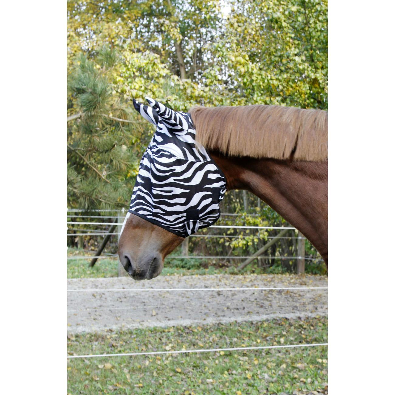 Covalliero Fliegenschutzmaske Zebra, Bild 2