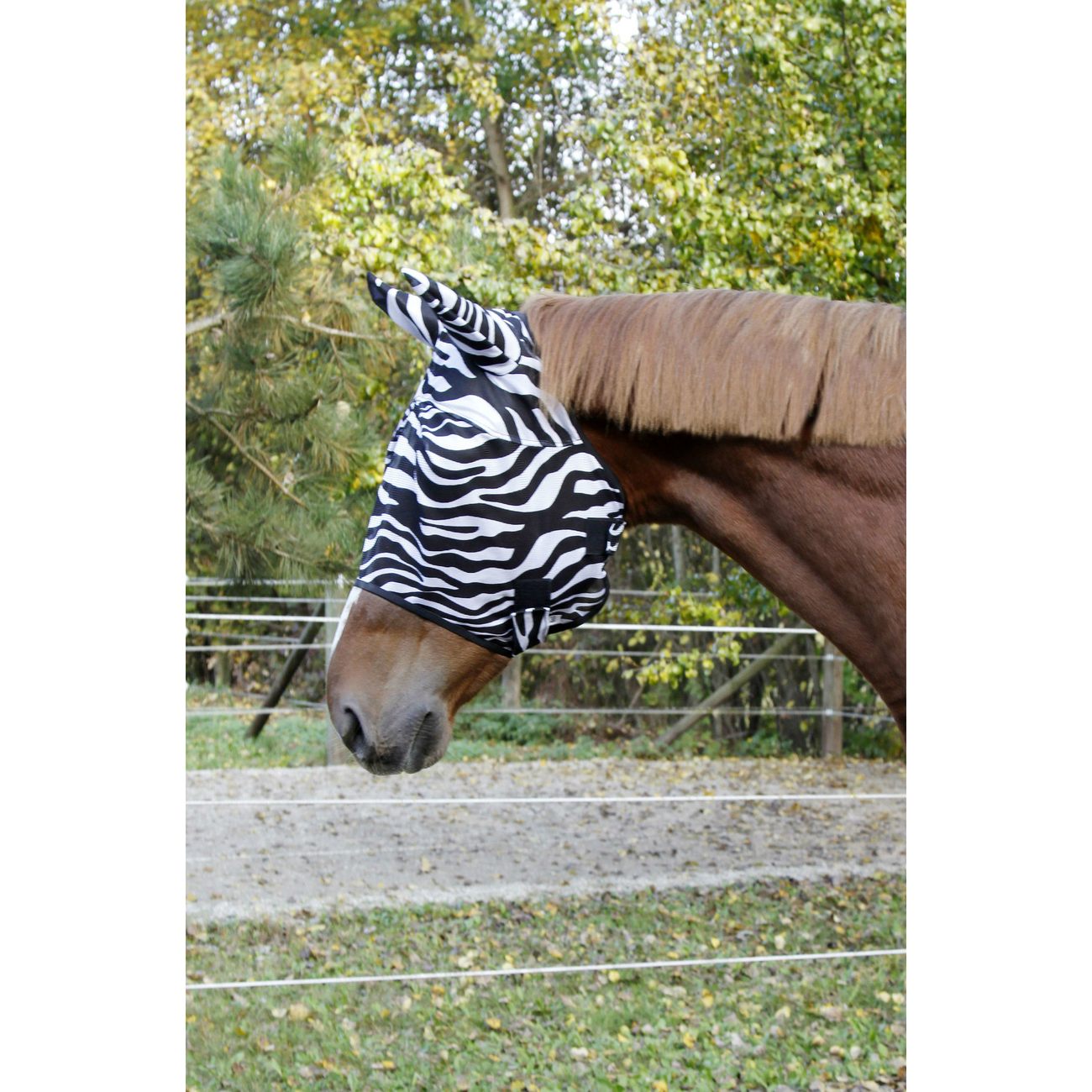 Kerbl Pferde Fliegenschutzmaske Zebra incl. Ohrenschutz, Bild 2