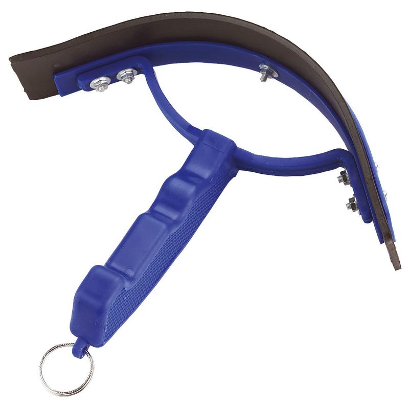 Kerbl Pferde Schweißwischer aus Kunststoff, blau