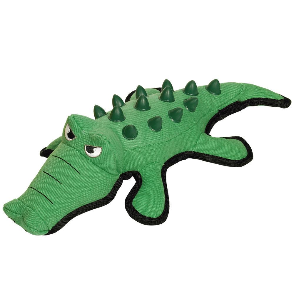 Nobby Plüsch Krokodil Hundespielzeug Extra Strong mit TPR Noppen, 41 cm