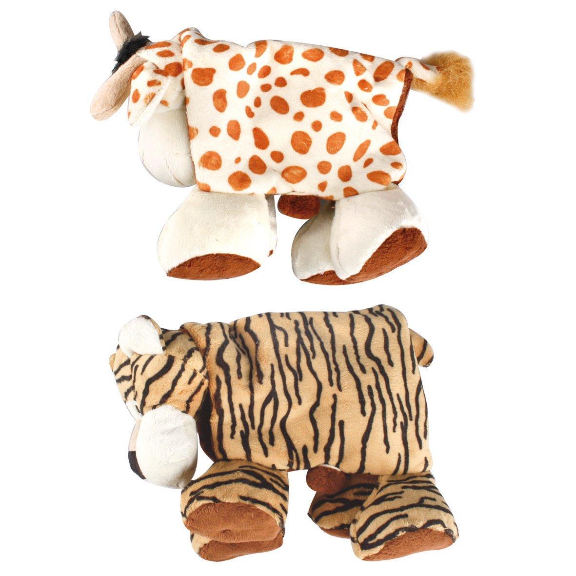 Karlie Plüschtier für Hunde Safari Animals faltbar, faltbar (L: 38 cm B: 30 cm H: 10 cm)
