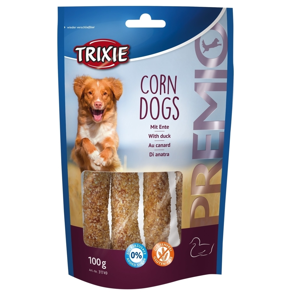 TRIXIE PREMIO Corn Dogs mit Ente Hundesnack Preview Image
