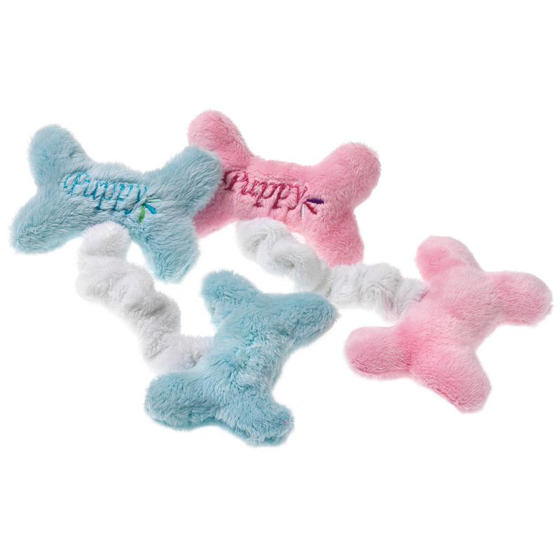 Karlie Puppy Mini Knochen Welpenspielzeug aus Plüsch