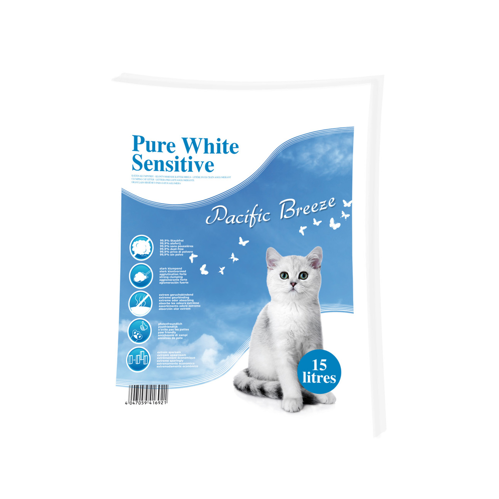 Europet-Bernina Pure White Sensitive Katzenstreu Pacific Breeze