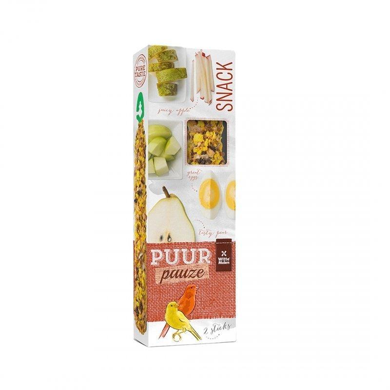 EBI Puur Pauze Samensticks für Vögel, Apfel & Birne, 60 gr, für Kanarien