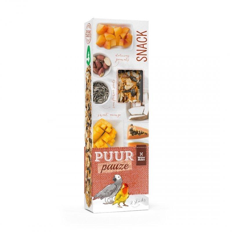 EBI Puur Pauze Samensticks für Vögel, Früchte & Nüsse, 140 g, für Papageien