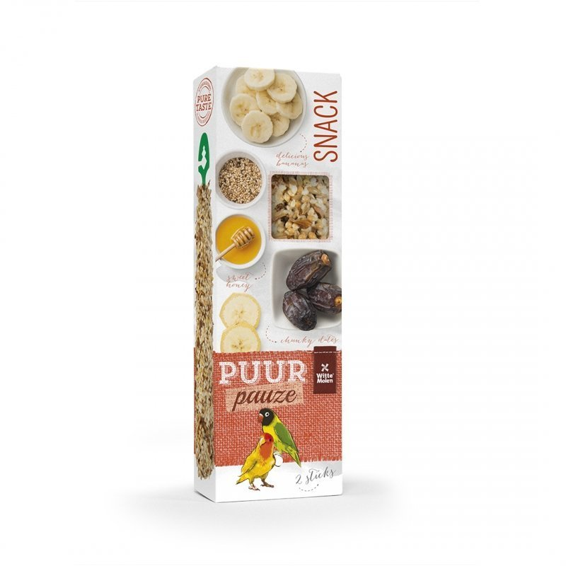 EBI Puur Pauze Samensticks für Vögel, Honig & Dattel, 60 g, für Agaporniden