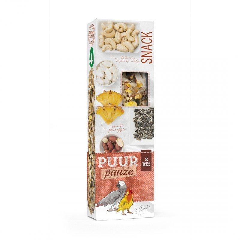 EBI Puur Pauze Samensticks für Vögel, Ananas & Erdnuss, 140 g, für Papageien