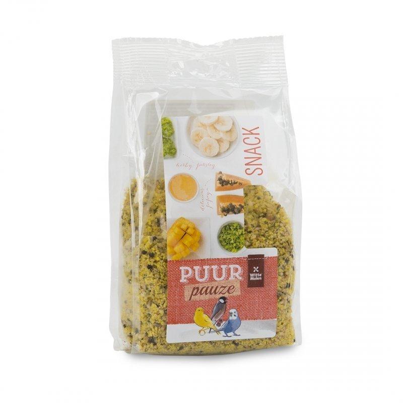 EBI Puur Pauze Snackmix für Vögel, Frucht & Kräuter für kleine Vögel, 200 g