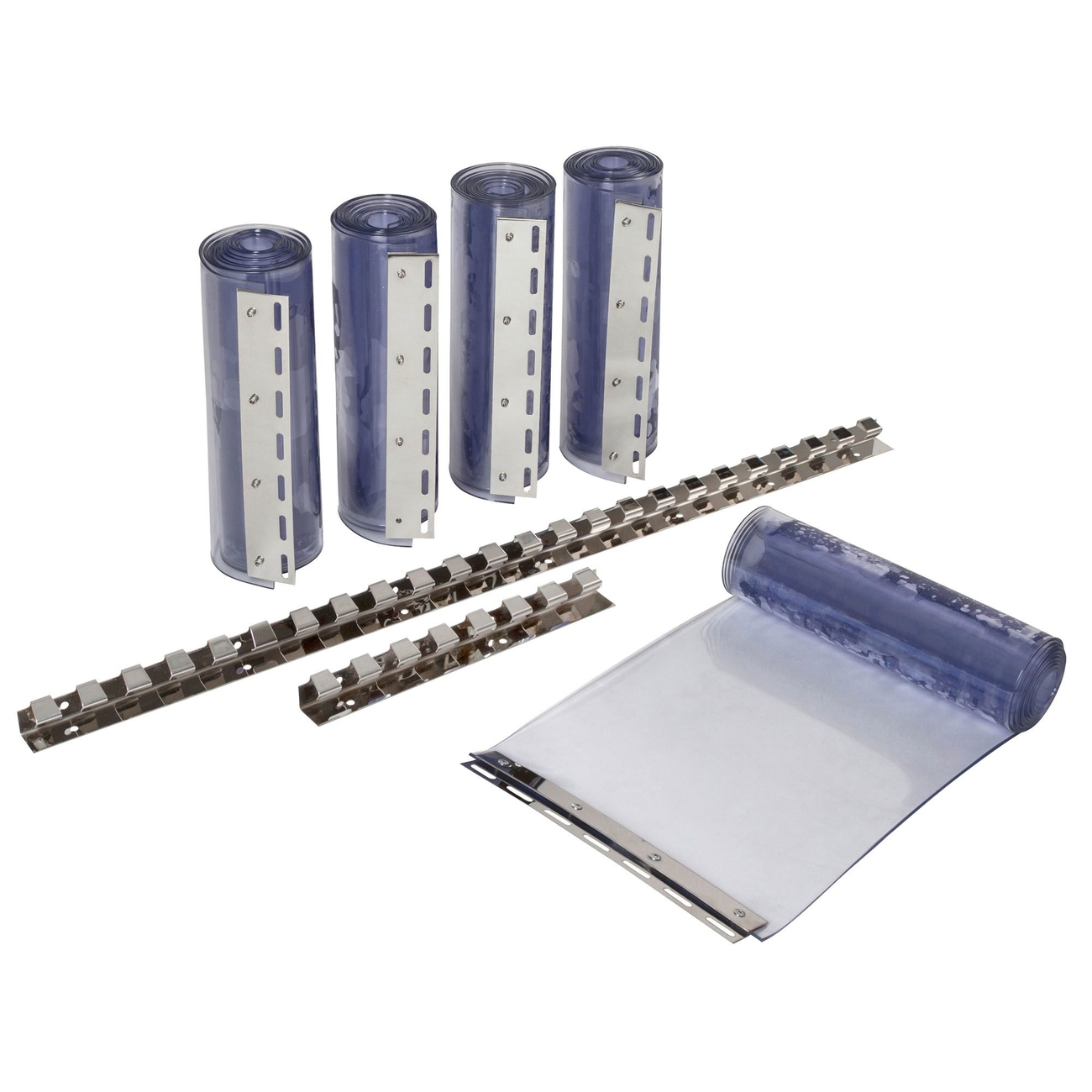 Kerbl PVC Streifenvorhang Set, Komplett-Set