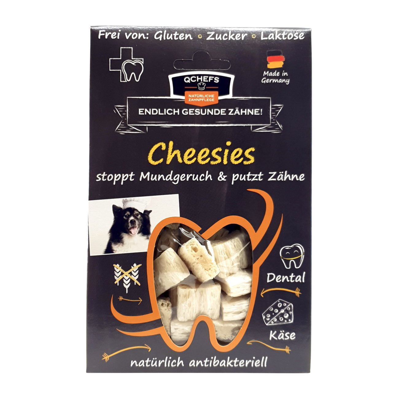 Qchefs Hunde Snack Cheesies
