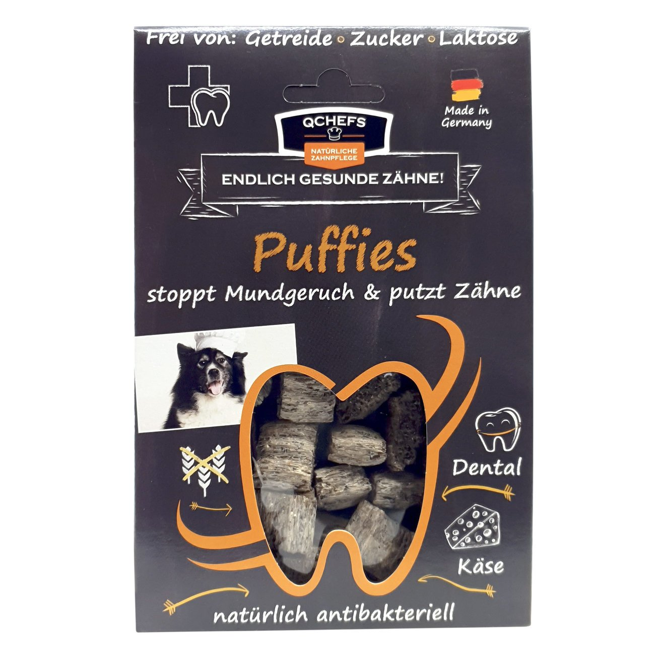 Qchefs Hundesnack Puffies