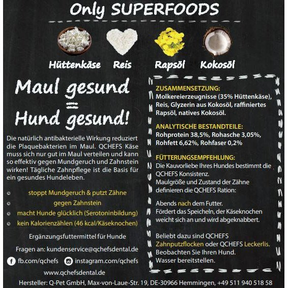 Qchefs Kauknochen Hard Cheese, Bild 4